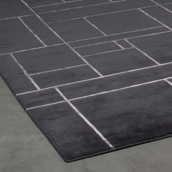 Carrelage design grand tapis gris moderne design pour for Grattoir carrelage