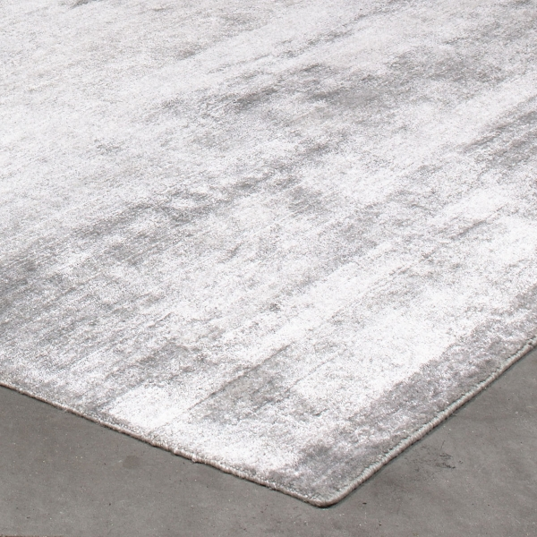grand tapis silky gris argent par angelo 200 x 300 cm. Black Bedroom Furniture Sets. Home Design Ideas