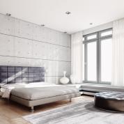Grand tapis Silky gris argenté par Angelo 200 x 300 cm