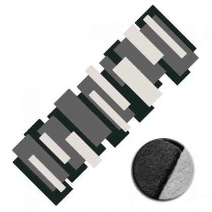 Tapis sur mesure Pebbles noir et blanc par Angelo