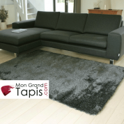Grand tapis rectangulaire gris Swing par Arte Espina