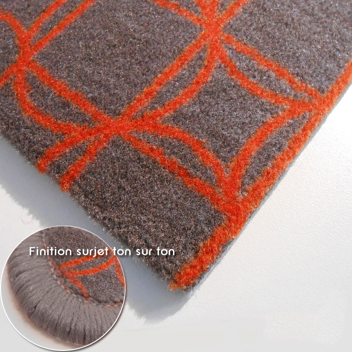 carrelage design tapis orange et gris moderne design