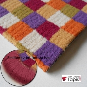Grand tapis Pixel Violet, Orange et Vert Vorwerk finition surjet