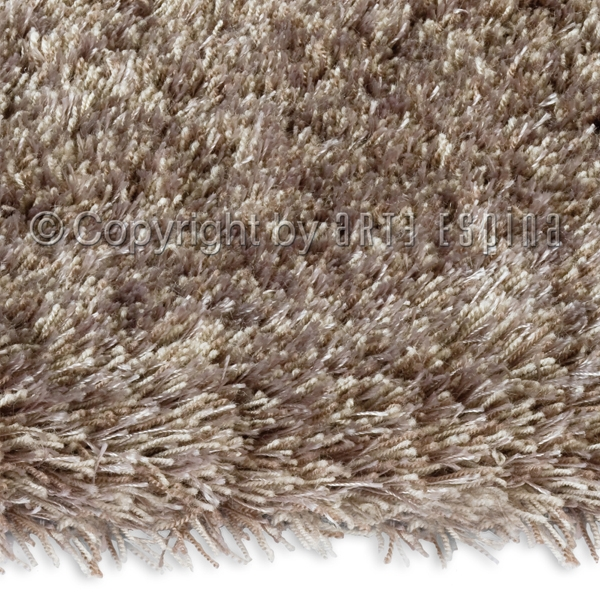 grand tapis shaggy uni beige par arte espina. Black Bedroom Furniture Sets. Home Design Ideas