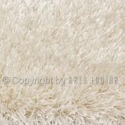Grand tapis shaggy uni blanc par Arte Espina en 200 x 300 cm