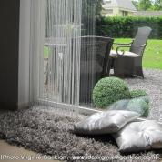 Tapis shaggy gris beige par Arte Espina en 200 x 200 cm