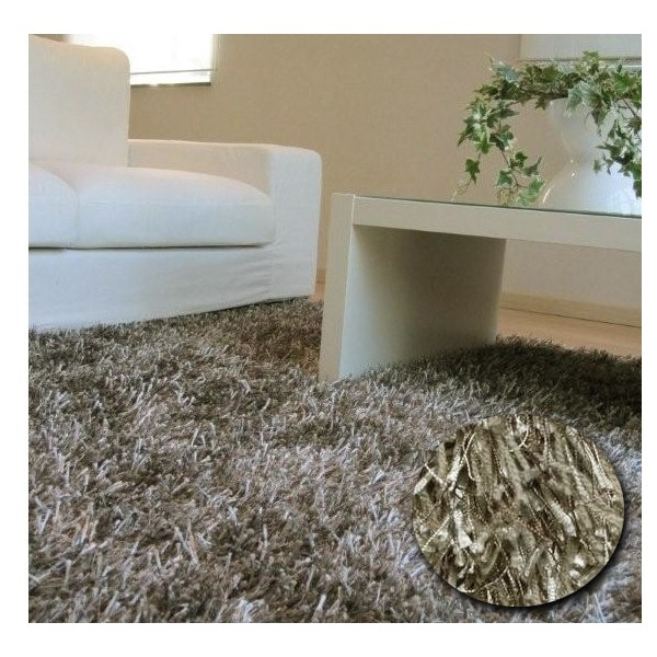 tapis shaggy gris beige par arte espina. Black Bedroom Furniture Sets. Home Design Ideas