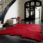 Tapis Bulles Rouges Design Esprit Home