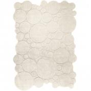 Tapis Design Bulles Blanc Esprit Home