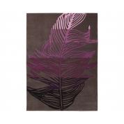 Tapis Floral Marron Violet Esprit Home