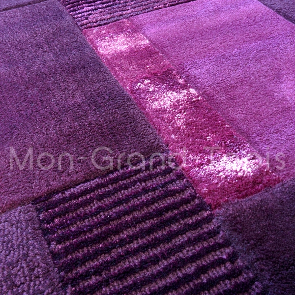 Tapis Tapis Moderne 150 Violet 120 170cm Pictures to pin on Pinterest