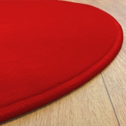 Tapis Rond Rouge Modena jusqu'à 4 mètres de diamètre