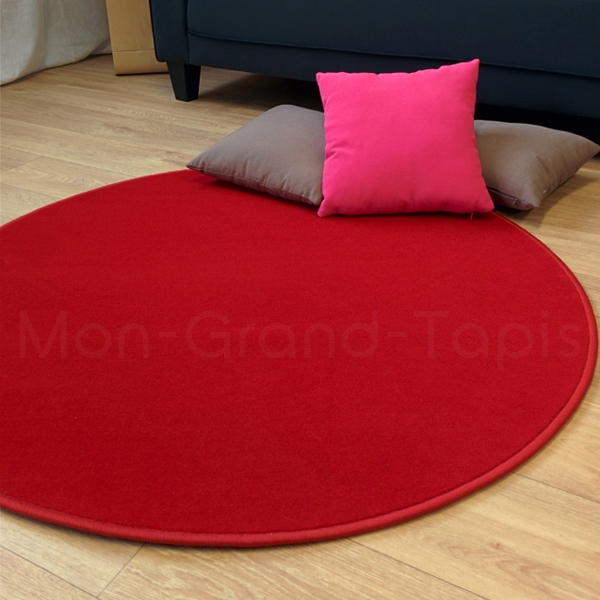 tapis rond rouge modena par vorwerk. Black Bedroom Furniture Sets. Home Design Ideas