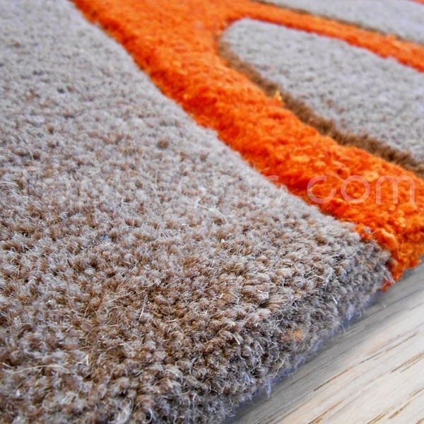 Carrelage design tapis orange et gris moderne design - Tapis de cuisine gris design ...