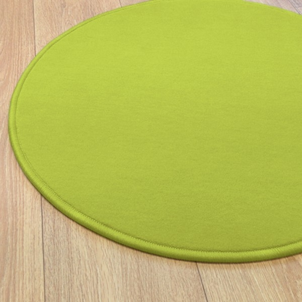 tapis rond vert anis modena par vorwerk. Black Bedroom Furniture Sets. Home Design Ideas