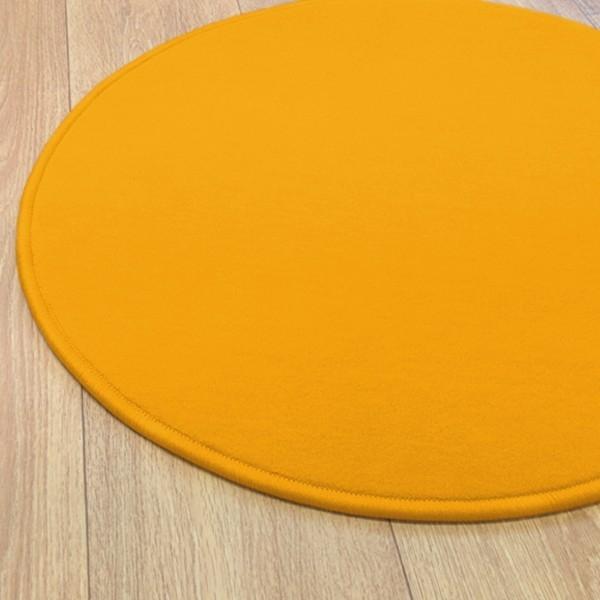 Wundersch nen tapis rond jaune moutarde l 39 id e d 39 un - Tapis rond jaune ...