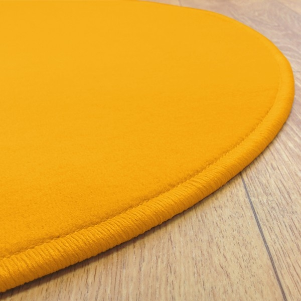 tapis rond jaune tapis rond jaune esprit home colour in motion tapis rond jaune fluo design. Black Bedroom Furniture Sets. Home Design Ideas