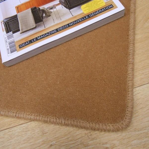 tapis sur mesure en laine couleur camel. Black Bedroom Furniture Sets. Home Design Ideas