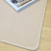 Tapis sur mesure en laine couleur Ecru