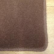 Tapis sur mesure en laine couleur Marron vision
