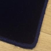 Tapis sur mesure en laine couleur Bleu foncé