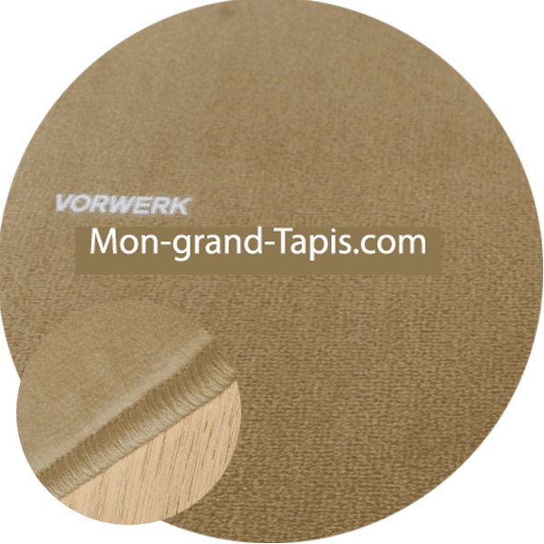 tapis sur mesure rond beige fonc modena par vorwerk. Black Bedroom Furniture Sets. Home Design Ideas