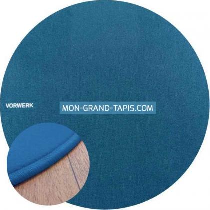 Tapis sur mesure rond Bleu Modena par Vorwerk