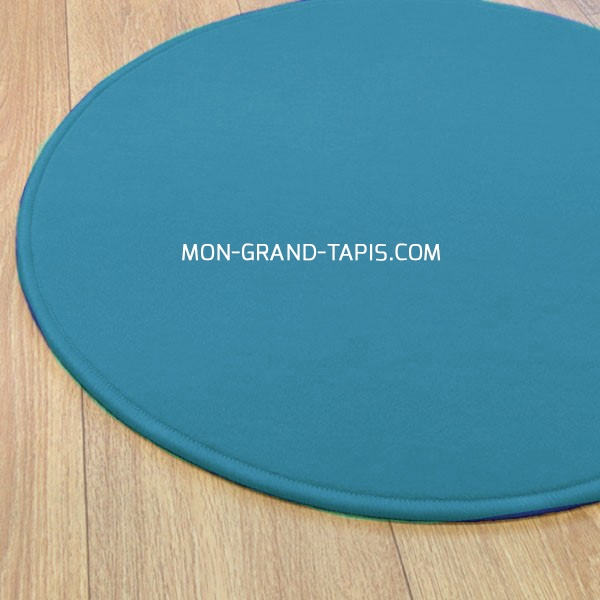 tapis sur mesure rond bleu modena par vorwerk. Black Bedroom Furniture Sets. Home Design Ideas