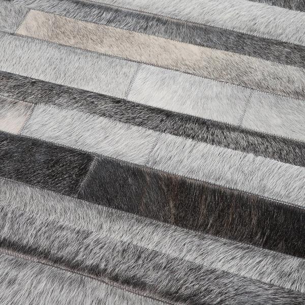 tapis en peau de vache home spirit jacob tons gris. Black Bedroom Furniture Sets. Home Design Ideas