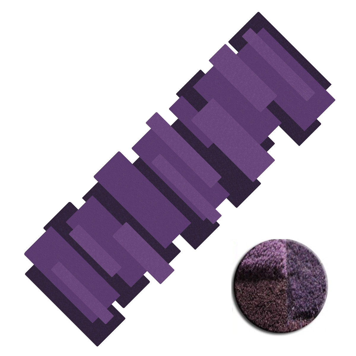tapis de couloir violet pebbles par angelo. Black Bedroom Furniture Sets. Home Design Ideas