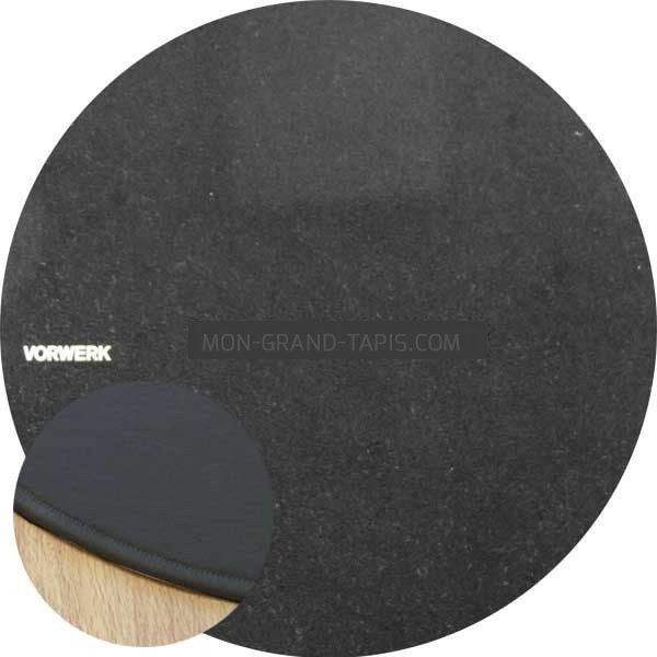 tapis sur mesure rond noir modena par vorwerk. Black Bedroom Furniture Sets. Home Design Ideas