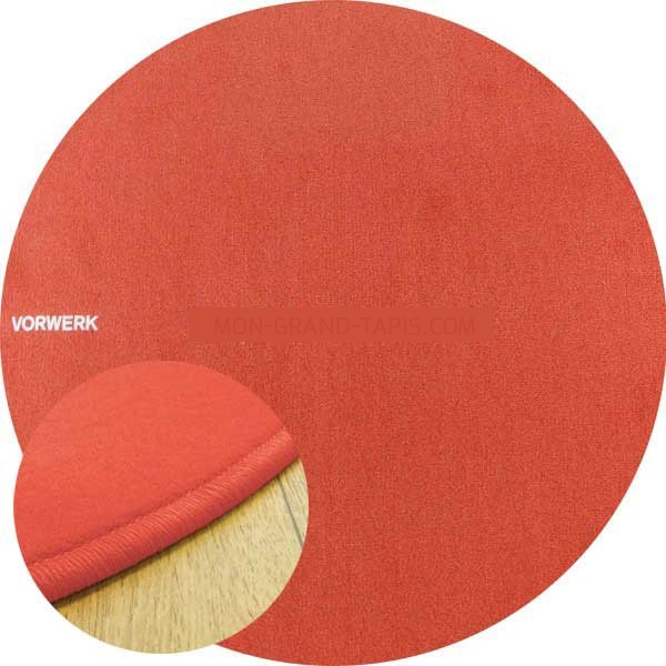 tapis sur mesure rond orange corail modena par vorwerk. Black Bedroom Furniture Sets. Home Design Ideas