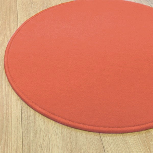 tapis sur mesure rond orange corail modena par vorwerk. Black Bedroom Furniture Sets. Home Design Ideas