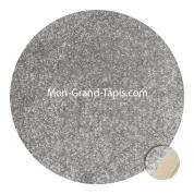 Grand tapis rond Gris clair sur mesure par Mon Grand tapis sélection