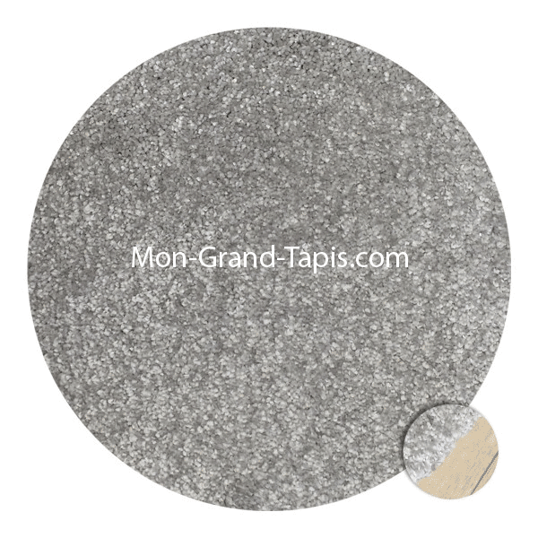 grand tapis rond gris clair sur mesure par mon grand tapis s lection. Black Bedroom Furniture Sets. Home Design Ideas