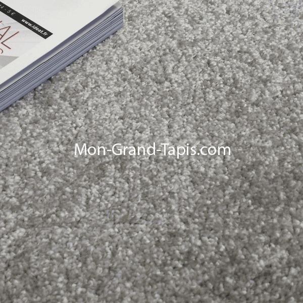 Grand tapis rond gris clair sur mesure par mon grand tapis Grand tapis clair