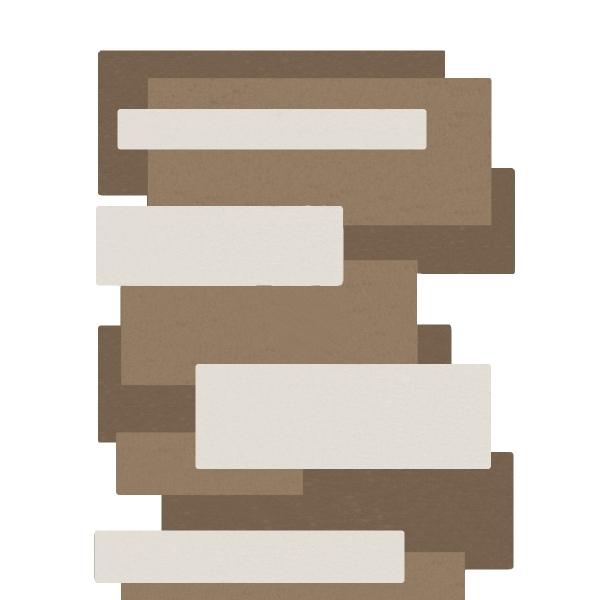 tapis de couloir beige taupe et blanc pebbles par angelo. Black Bedroom Furniture Sets. Home Design Ideas