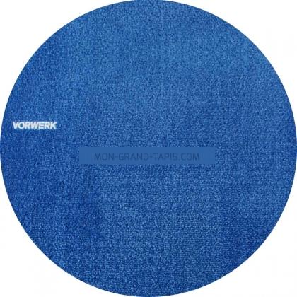 Tapis sur mesure rond Bleu Roi gammeSafira par Vorwerk