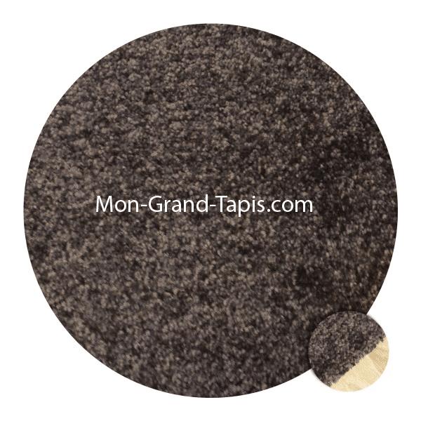 Tapis sur mesure u0026gt; Grand tapis rond sur mesure marron par Mon Grand ...