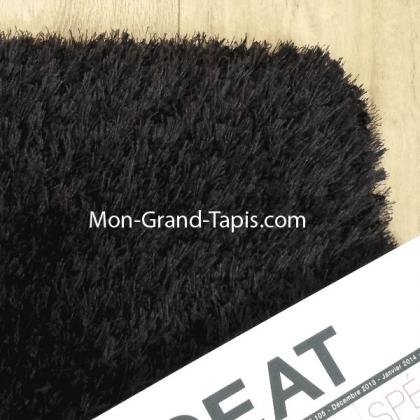 Echantillon Grand tapis noir sur mesure par Mon Grand tapis sélection