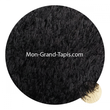 grand tapis rond sur mesure noir par mon grand tapis s lection. Black Bedroom Furniture Sets. Home Design Ideas