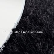 Grand tapis rond sur mesure noir par Mon Grand tapis sélection