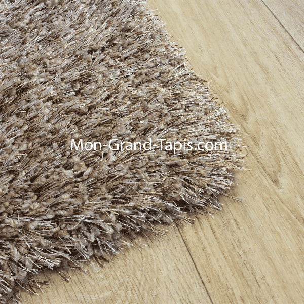 Echantillon grand tapis shaggy beige sur mesure par mon grand tapis s lection - Tapis shaggy beige ...