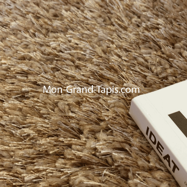 grand tapis shaggy beige sur mesure par mon grand tapis s 233 lection