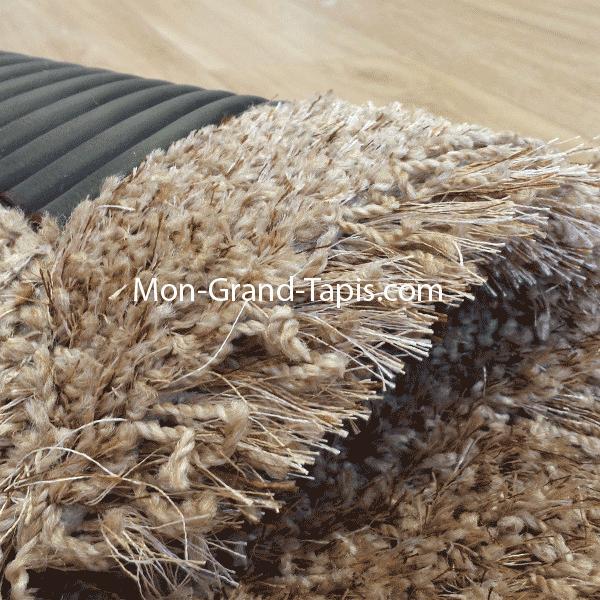 Grand tapis shaggy rond beige sur mesure par mon grand tapis s lection - Grand tapis beige ...