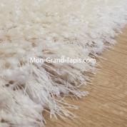 Tapis salon shaggy sur mesure blanc écru par Mon Grand tapis sélection