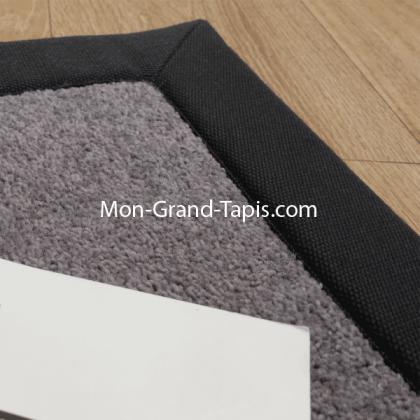 Echantillon tapis sur mesure en laine gansé gris par Mon Grand tapis sélection
