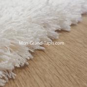 Echantillon tapis sur mesure shaggy blanc bambou par Mon Grand tapis sélection