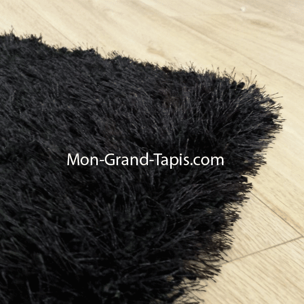 grand tapis shaggy rond beige sur mesure par mon grand. Black Bedroom Furniture Sets. Home Design Ideas
